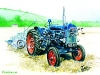 Fordson 'Major' tractor with plough