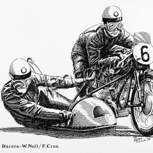 'Willi' Wilhelm Noll and Fritz Cron (BMW)