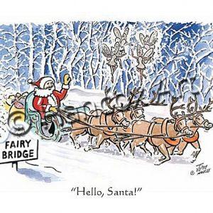 Hello Santa Isle of Man Christmas Card