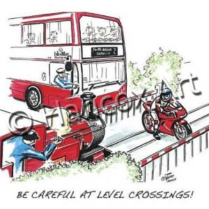 Be Careful At Level Crossings