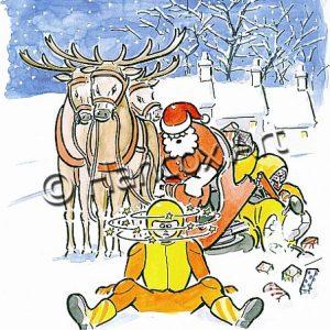 Sorry Mate I Didn't See You Bike Christmas Card