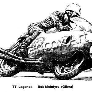 TT Legends Bob McIntyre Gilera
