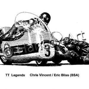 TT Legends Chris Vincent and Eric Bliss BSA