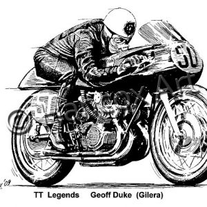 TT Legends Geoff Duke Gilera