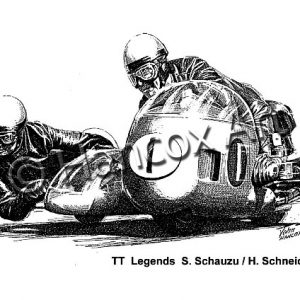 TT Legends Seigfried Schauzu and Horst Schneider BMW