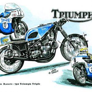 Triumph 750 Triple Classic Racer