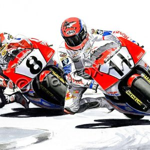 Steve Hislop and Carl Fogarty