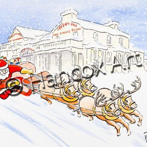 Santa at Creg Ny Baa Isle of Man Christmas Card