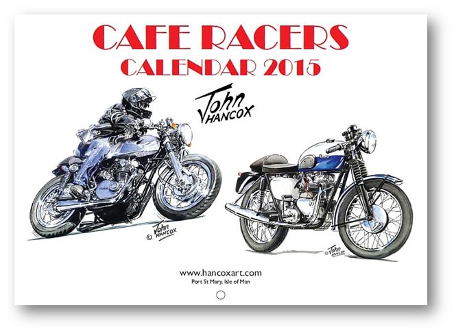 Cafe Racer Calendar Front Cover