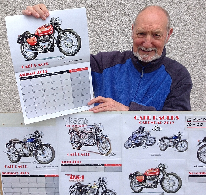 John with his new Cafe Racers calendar!