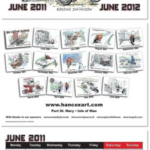 Bike Cartoon Calendar 2011 - 2012 Example Pages