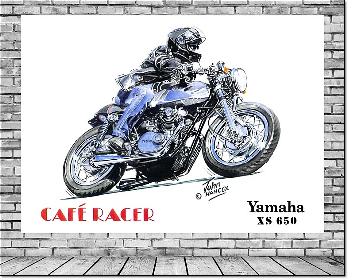 Cafe Racer Canvas Wall Art