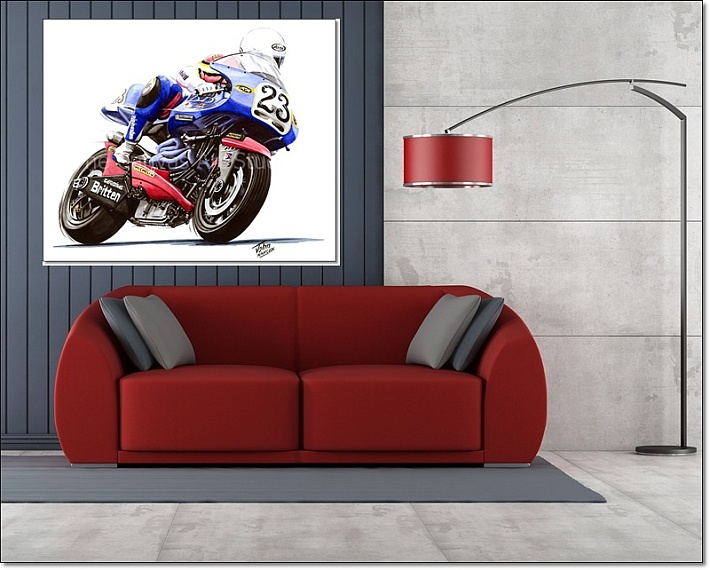 Motorcycle Racers Canvas Wall Art