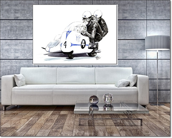 Sidecar Legends Canvas Wall Art