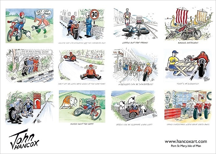 2016 Motorcycle Cartoon Calendar Back Cover