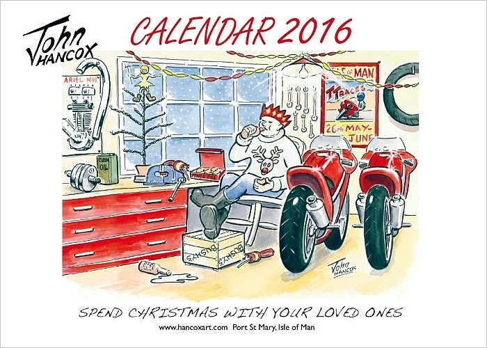 2016 Motorcycle Cartoon Calendar Front Cover