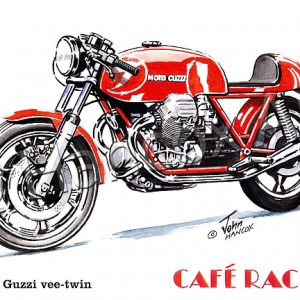 Moto Guzzi Vee Twin Cafe Racer (unfaired)