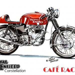 Royal Enfield Constellation Cafe Racer (red)