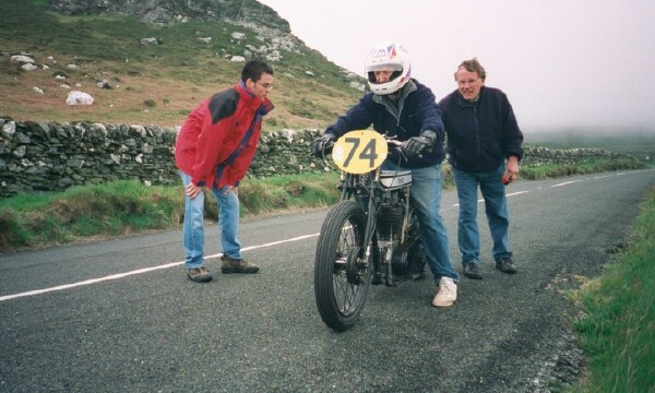 'Team Stress Free' during 'unofficial testing' for Ramsey Sprint in a top secret location on the Isle of Man in 2000!