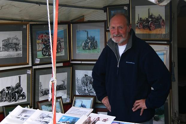 John at his stall at the Great Dorset Steam Fair.