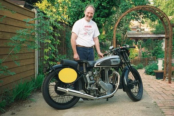 John's 1946 500cc 'Model 18' Norton in road legal guise!