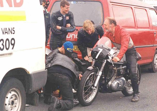 Isle of Man, John's just about to run Pete Warren's Triton in the Ramsey Sprint.